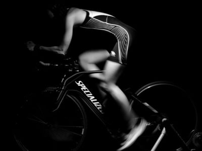 female-cyclist-blk-and-white