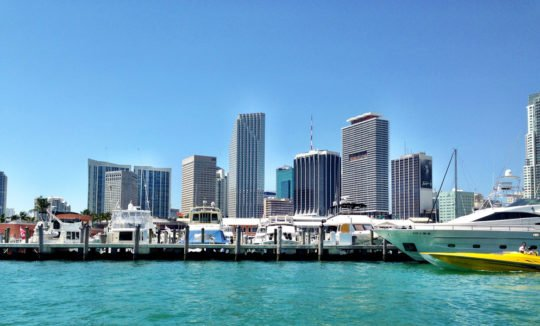 Miami Skyline from Water